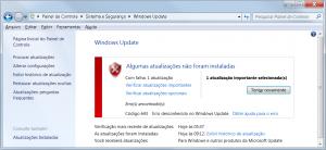 mensagem de erro do windows update